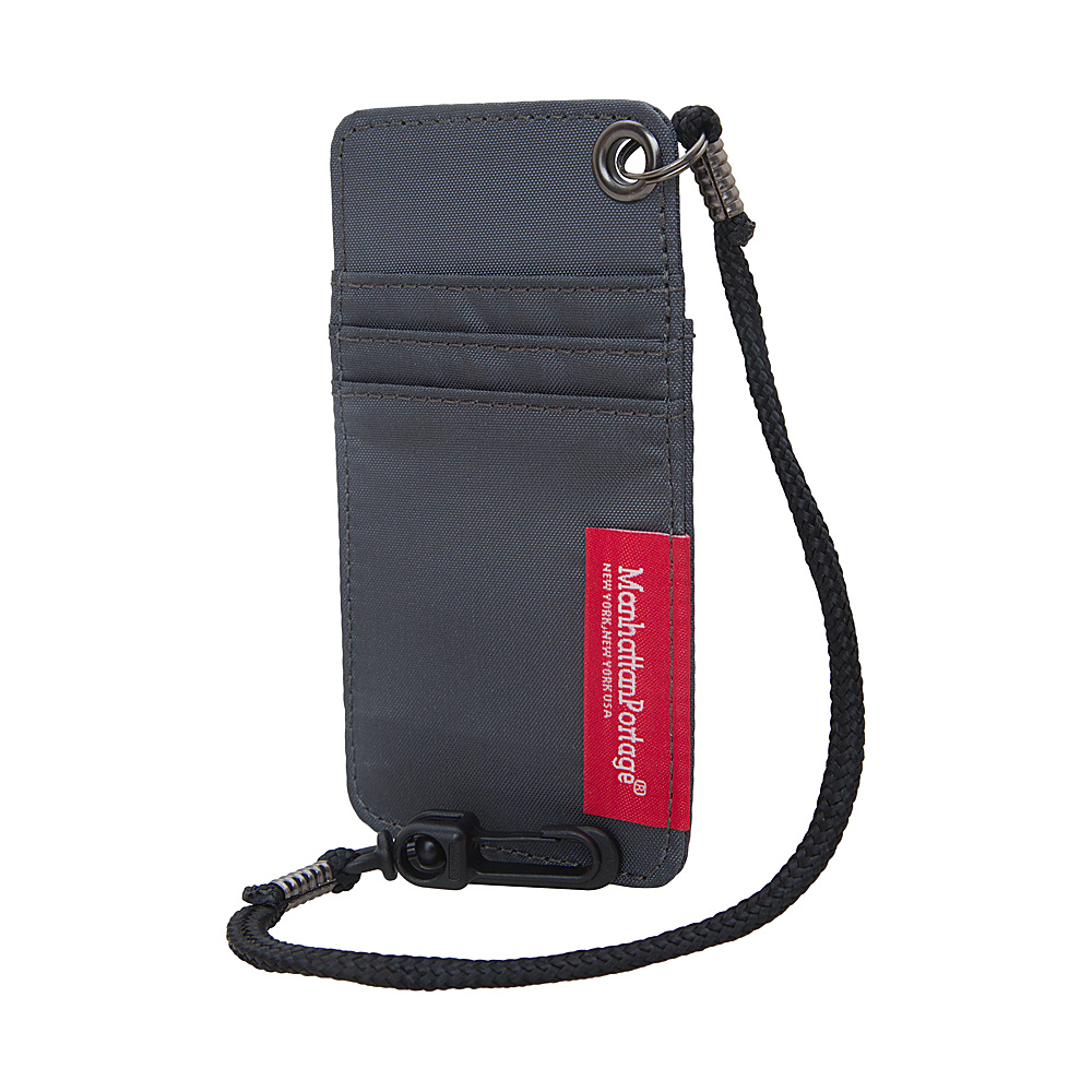 Manhattan Portage City Tech ID Case Gray Manhattan Portage Luggage Accessories