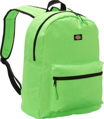 Dickies Student Backpack Neon Green - Dickies Everyday Backpacks