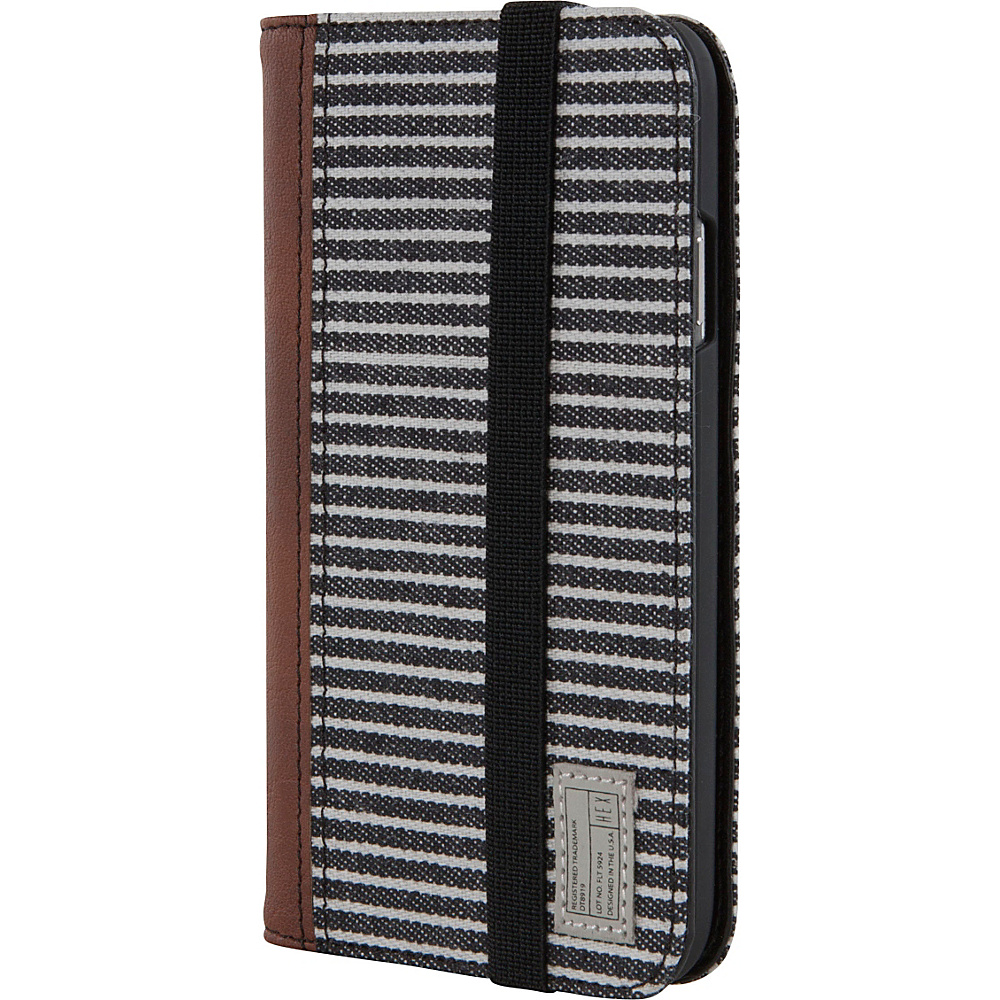 HEX Galaxy S4 Icon Wallet Black Grey Stripe HEX Electronic Cases
