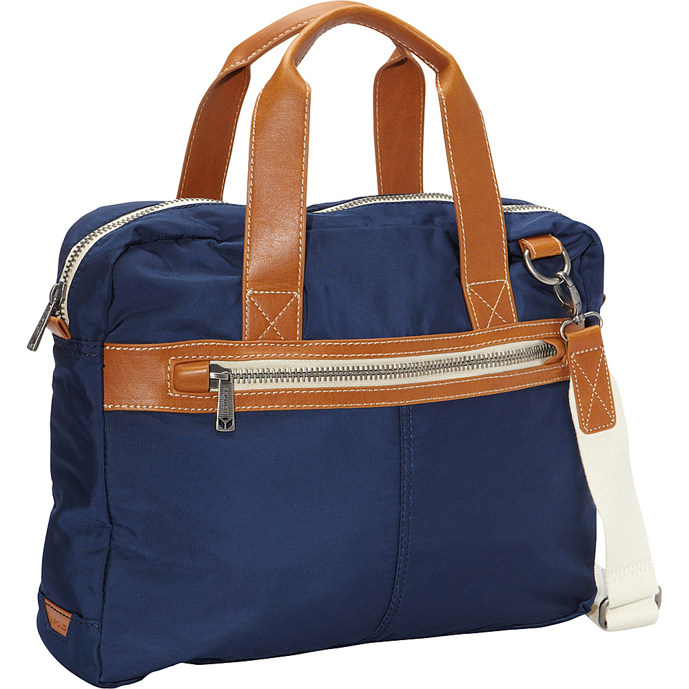 J.Fold Montreal Top Handle Briefcase Navy - J.Fold Non-Wheeled Business Cases