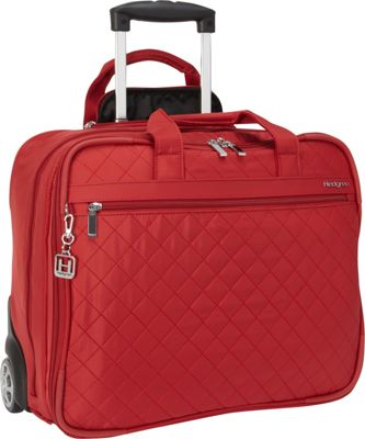 Hedgren Cindy Rolling Business Tote New Bull Red - Hedgren Wheeled Business Cases