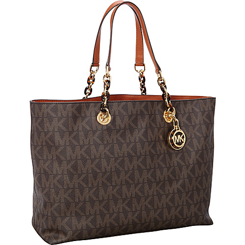 MICHAEL Michael Kors Cynthia Large Tote Bag Brown - MICHAEL Michael Kors Designer Handbags