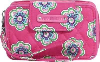 Vera Bradley Smartphone Wristlet 2.0 Pink Swirls Flowers - Vera Bradley Ladies Wallet on a String