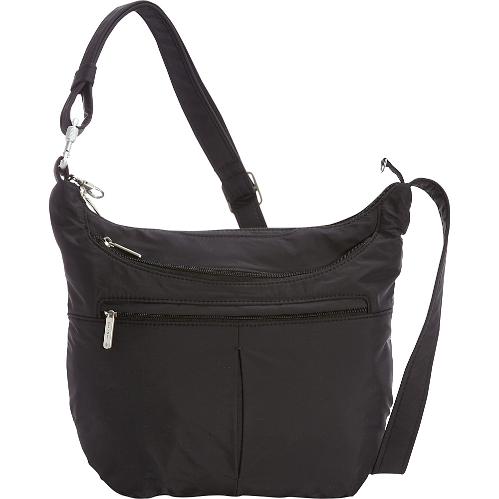 Travelon Anti-Theft Classic Light Slouch Hobo Black/Gray - Travelon Fabric Handbags - Handbags, Fabric Handbags
