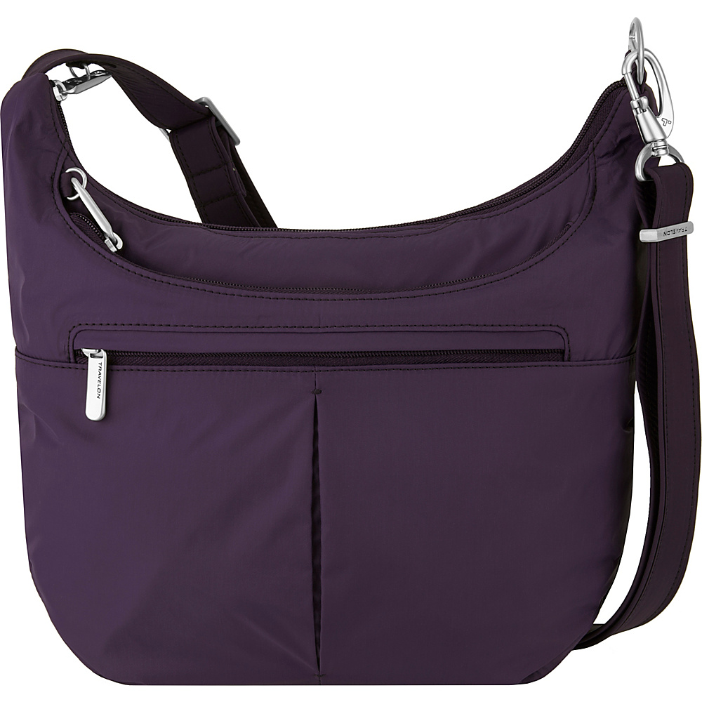 Travelon Anti-Theft Classic Light Slouch Hobo Purple/Sand - Travelon Fabric Handbags - Handbags, Fabric Handbags