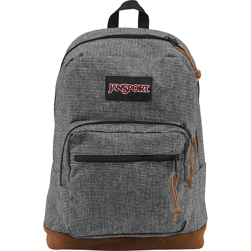 JanSport Right Pack Digital Edition Grey Houndstooth Check - JanSport Laptop Backpacks - Backpacks, Laptop Backpacks