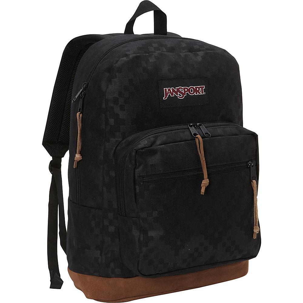 JanSport Right Pack Digital Edition Black Heat Embossed Ikat Squares - JanSport Laptop Backpacks - Backpacks, Laptop Backpacks