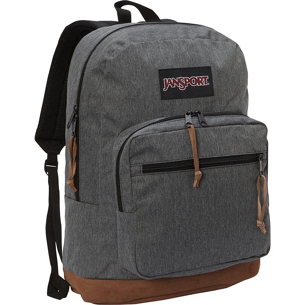 JanSport Right Pack Digital Edition Black White Herringbone - JanSport Business & Laptop Backpacks