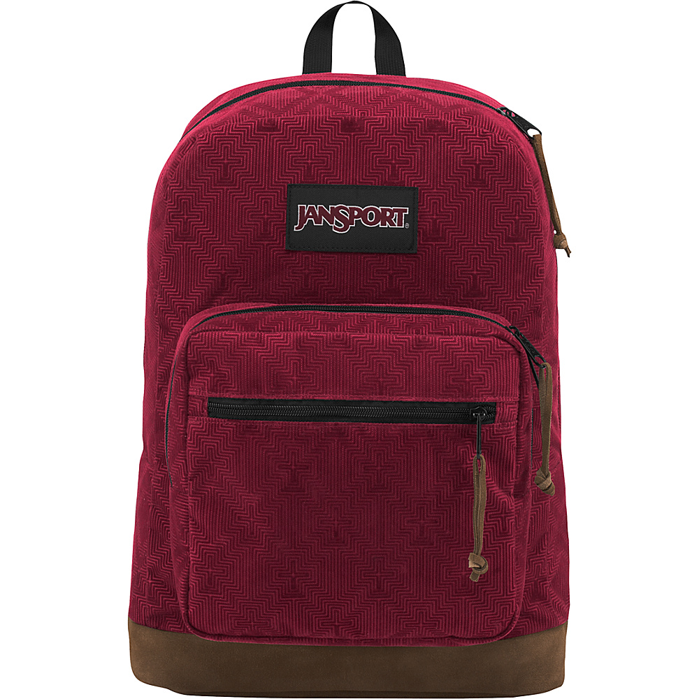 JanSport Right Pack Digital Edition Viking Red Optical Geo Micro Fiber - JanSport Business & Laptop Backpacks