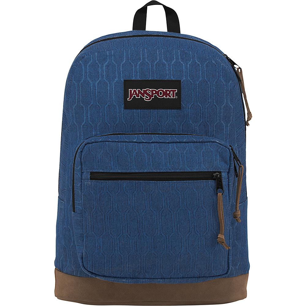 JanSport Right Pack Digital Edition Navy Hex Hive - JanSport Business & Laptop Backpacks