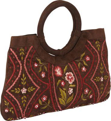 Moyna Handbags Satchel Brown - Moyna Handbags Fabric Handbags