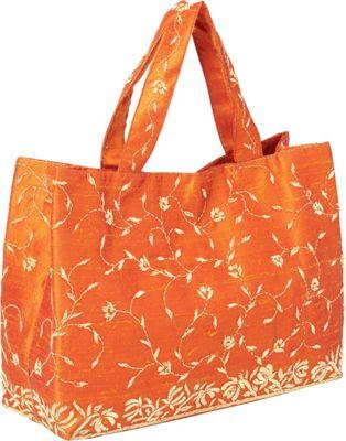 Moyna Handbags Satchel with Embroidery Orange - Moyna Handbags Fabric Handbags