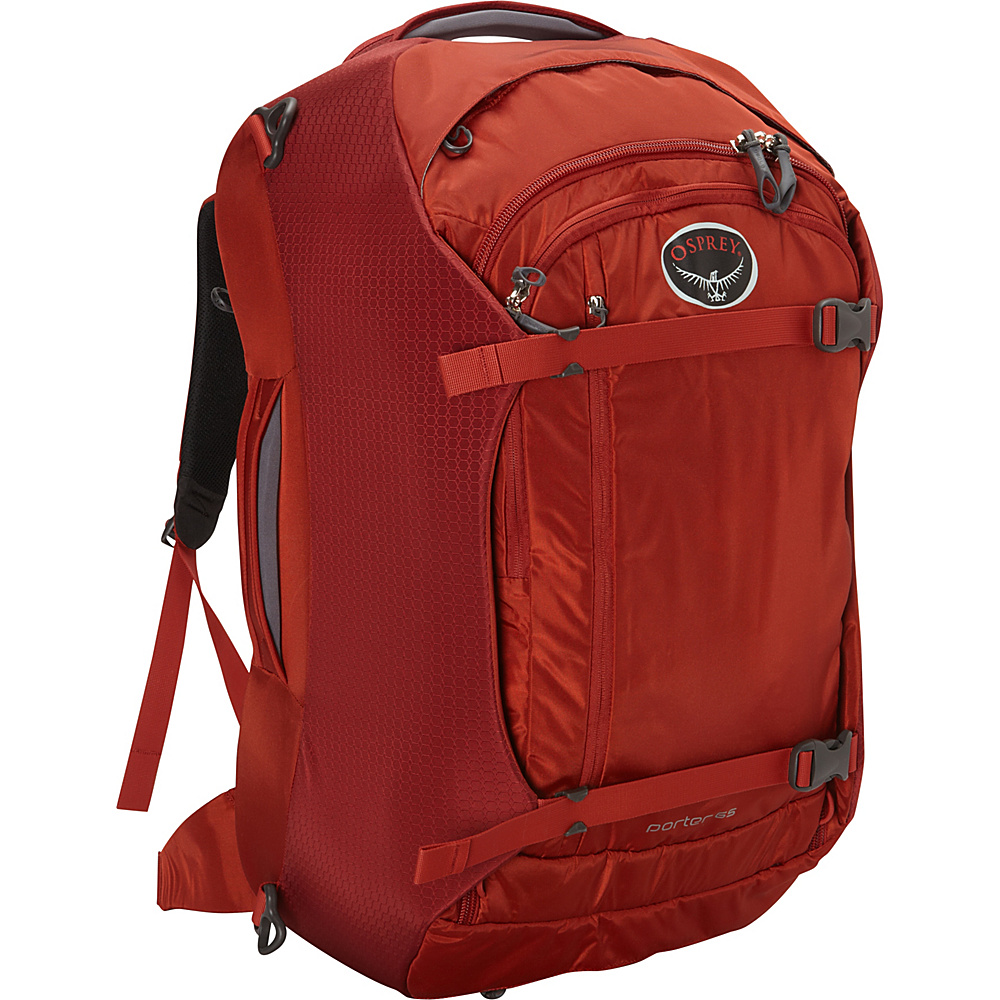 Osprey Porter 65 Travel Backpack Hoodoo Red Osprey Travel Backpacks