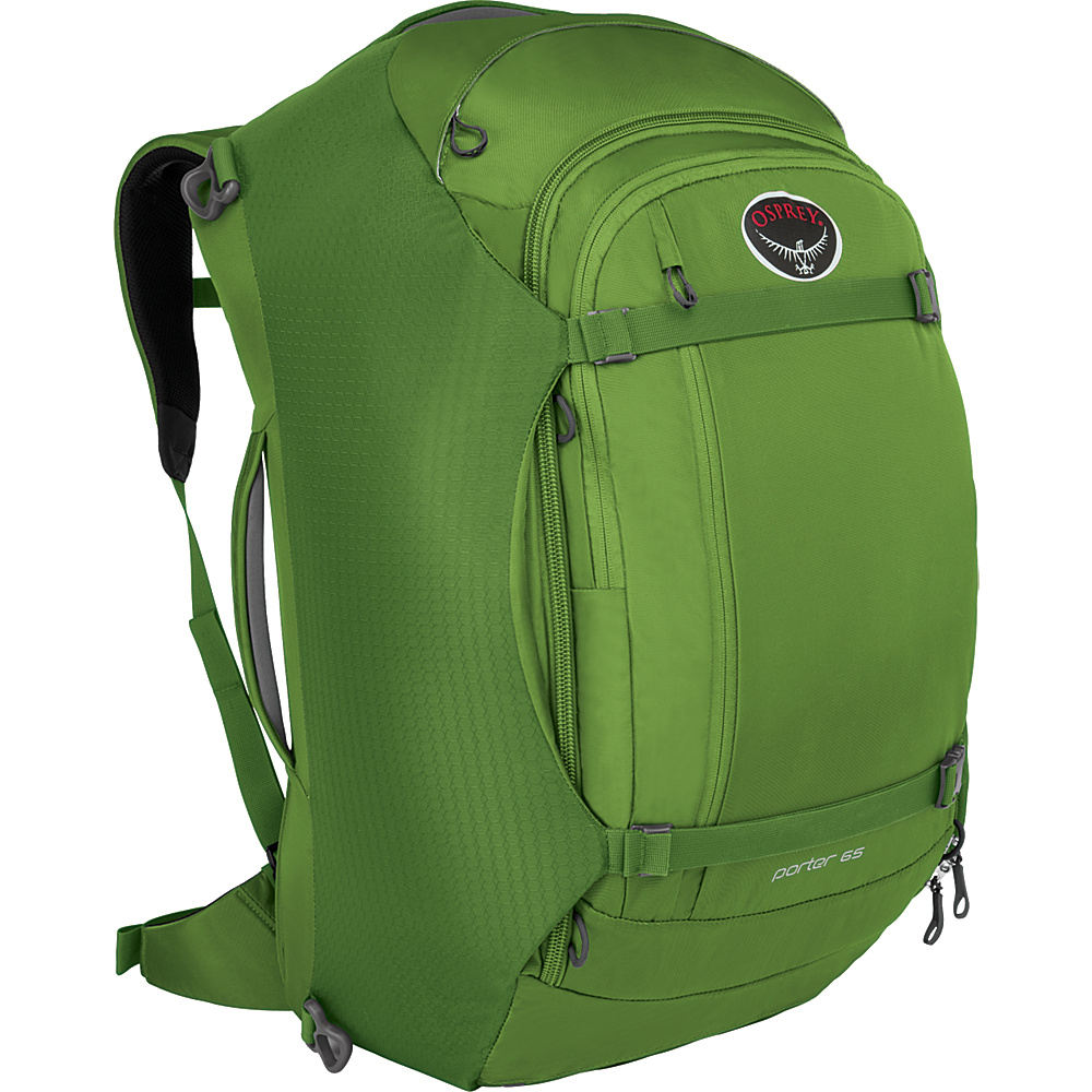 Osprey Porter 65 Travel Backpack Nitro Green Osprey Travel Backpacks