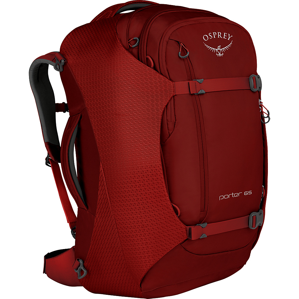 Osprey Porter 65 Travel Backpack Diablo Red - Osprey Travel Backpacks - Backpacks, Travel Backpacks