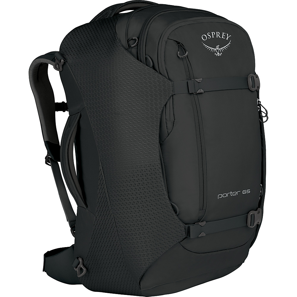 Osprey Porter 65 Travel Backpack Black - Osprey Travel Backpacks - Backpacks, Travel Backpacks