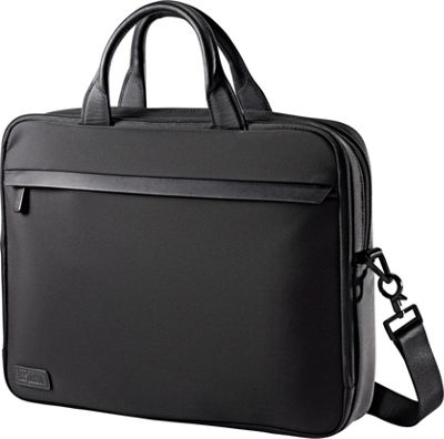 Hartmann Luggage Minimalist Single Compartment Brief Black - Hartmann Luggage Non-Wheeled Business Cases