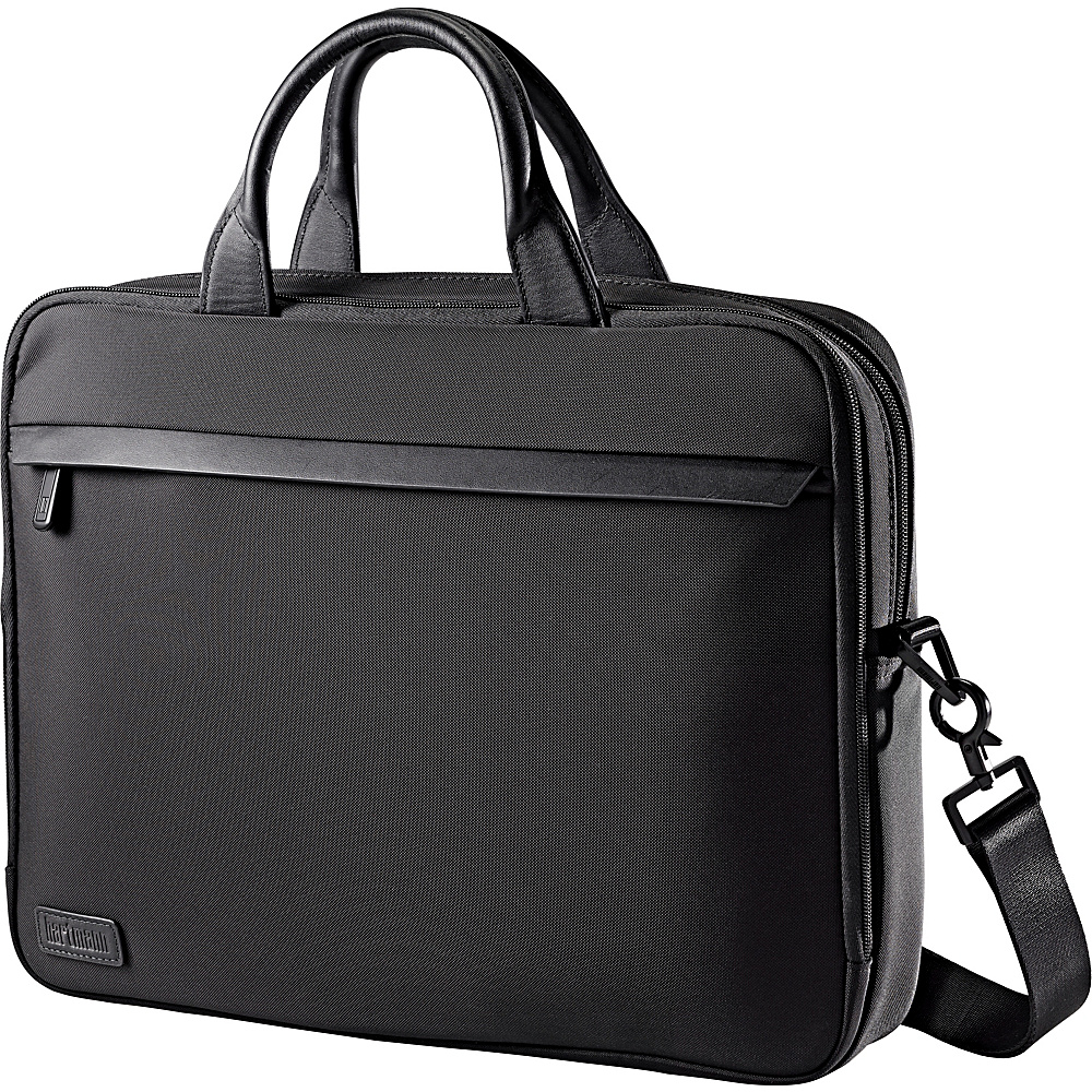 Hartmann Luggage Minimalist Single Compartment Brief Black Hartmann Luggage Non Wheeled Business Cases
