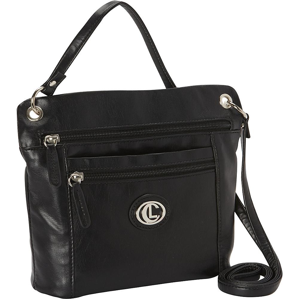 Aurielle Carryland Super Touch Tango Mini Crossbody Black Aurielle Carryland Manmade Handbags