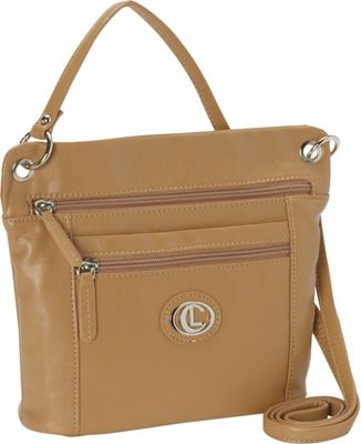 Aurielle-Carryland Super Touch Tango Mini Crossbody Tan - Aurielle-Carryland Manmade Handbags