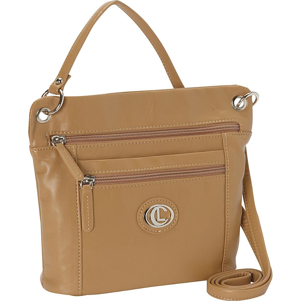 Aurielle Carryland Super Touch Tango Mini Crossbody Tan Aurielle Carryland Manmade Handbags