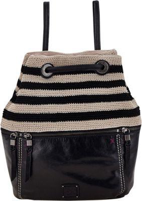 The Sak Camino Backpack Handbag Black Shitake Crochet - The Sak Leather Handbags