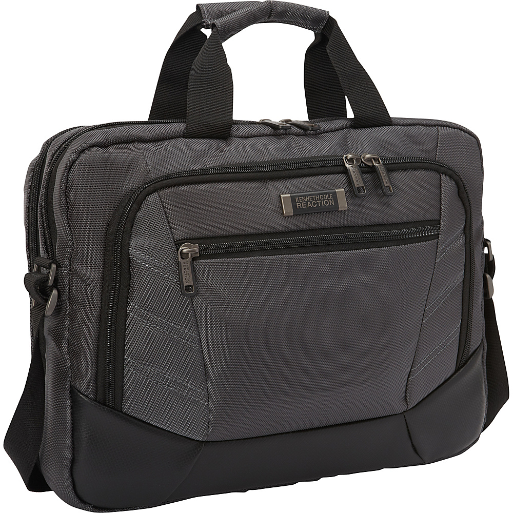 Kenneth Cole Reaction Rock the Boat Laptop Briefcase Charcoal Kenneth Cole Reaction Non Wheeled Business Cases