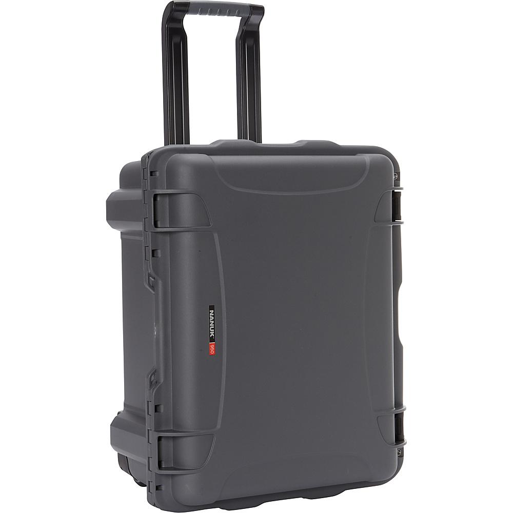 NANUK 950 Case With Foam Graphite NANUK Hardside Checked