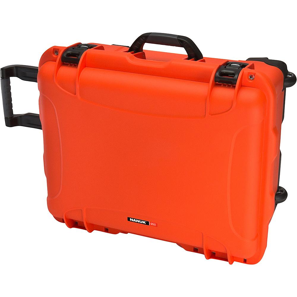 NANUK 950 Case With Foam Orange NANUK Hardside Checked
