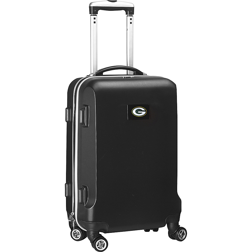 Denco Sports Luggage NFL 20 Domestic Carry-On Black Green Bay Packers - Denco Sports Luggage Hardside Carry-On - Luggage, Hardside Carry-On