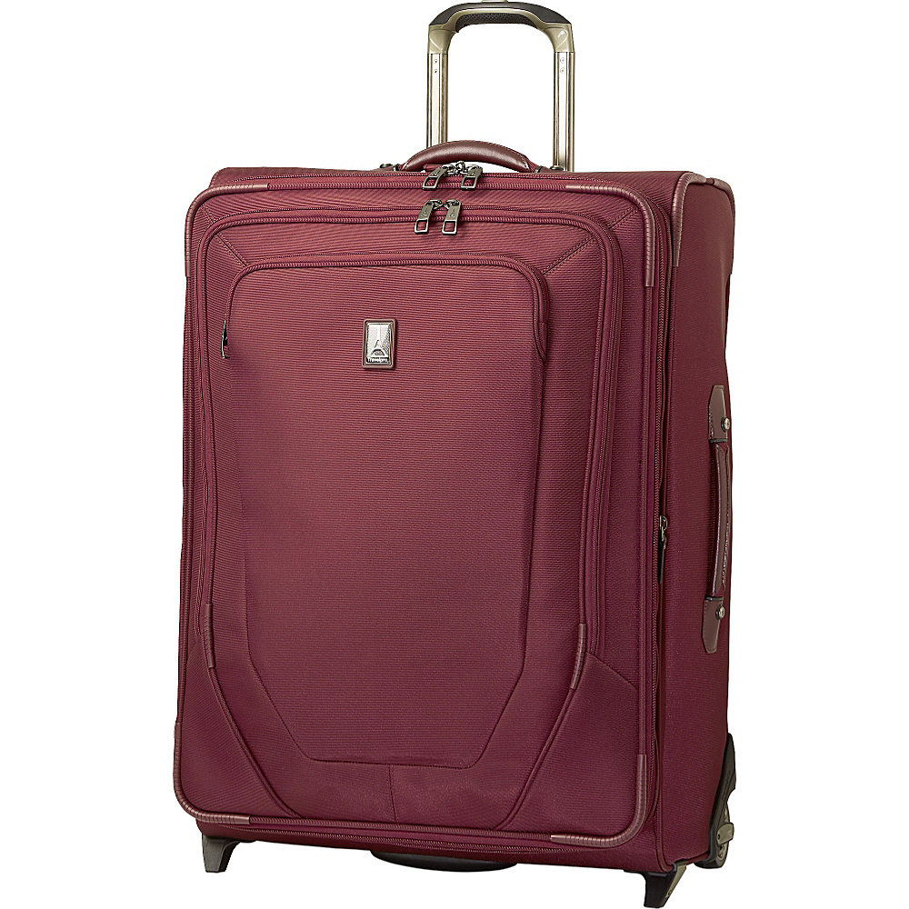 "Travelpro Crew 10 26"" Expandable Rollaboard - CLOSEOUT Merlot - Travelpro Large Rolling Luggage"