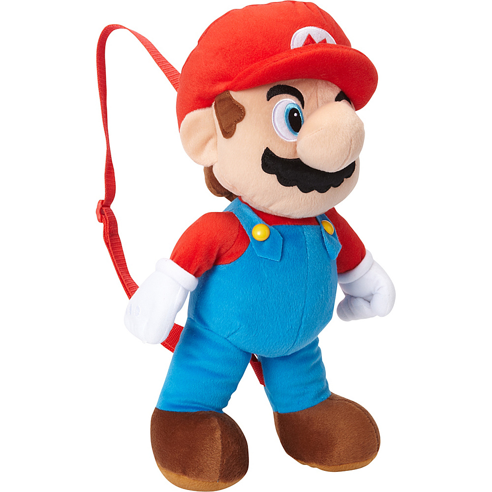 Accessory Innovations Mario Plush Backpack Red/Blue - Accessory Innovations Everyday Backpacks