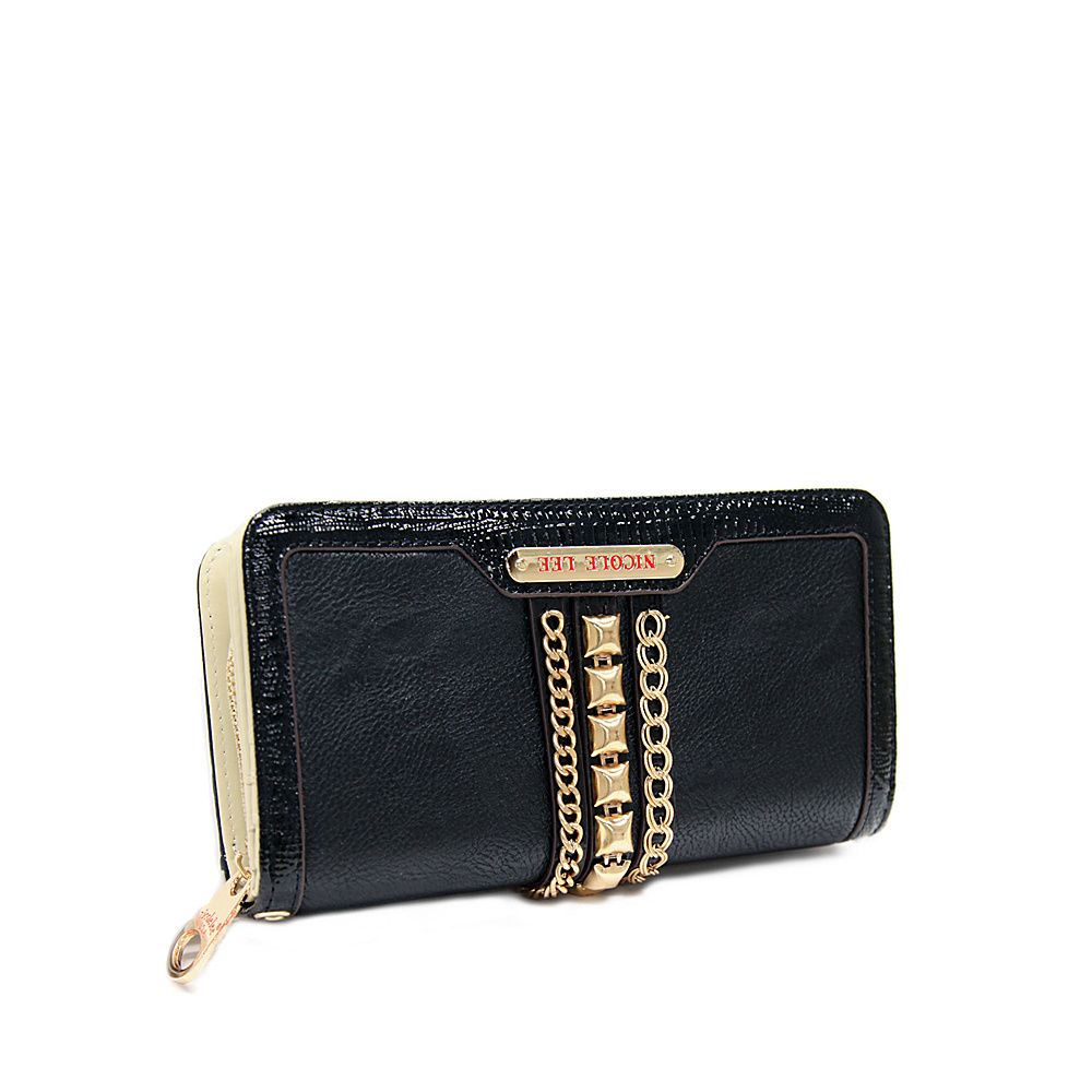 2868e92e2 ... UPC 847161049987 product image for Nicole Lee Brook Chain Detailed  Wallet Collection Black - Nicole Lee ...