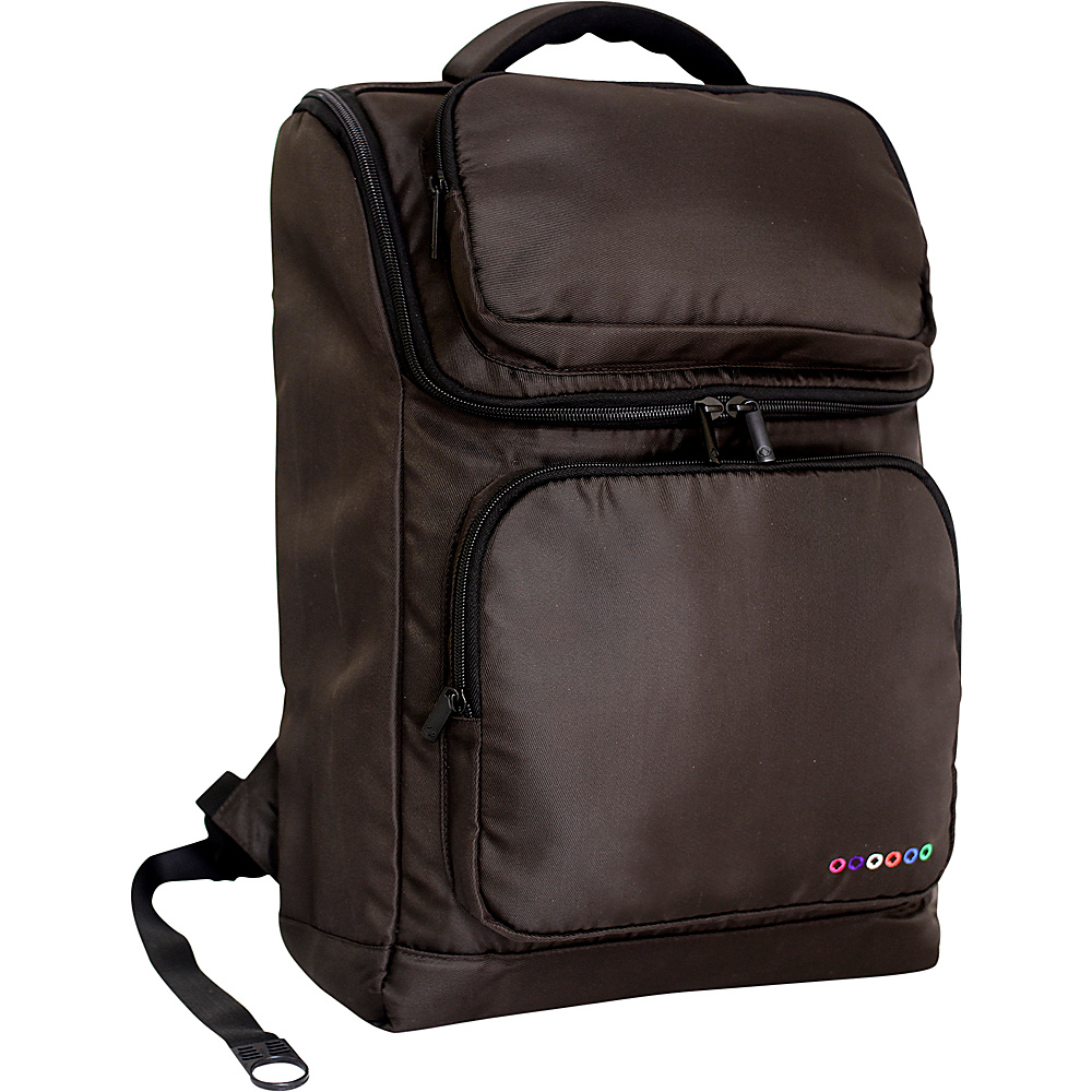 J World New York Elemental Laptop Backpack Brown J World New York Business Laptop Backpacks