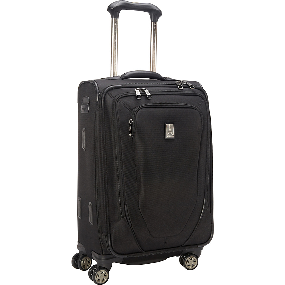 """Travelpro Crew 10 21"""" Expandable Spinner - CLOSEOUT Black - Travelpro Softside Carry-On"""