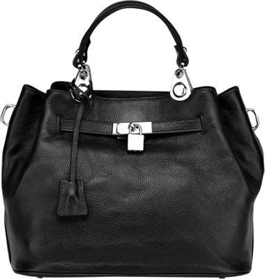 Vicenzo Leather Phebean Italian Leather Satchel Black - Vicenzo Leather Leather Handbags