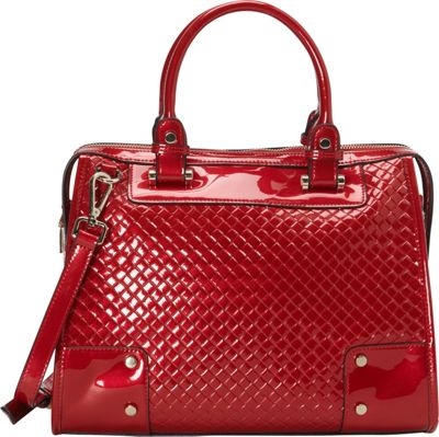 Vicenzo Leather Alexa Genuine Leather Top Handle Satchel Red - Vicenzo Leather Leather Handbags