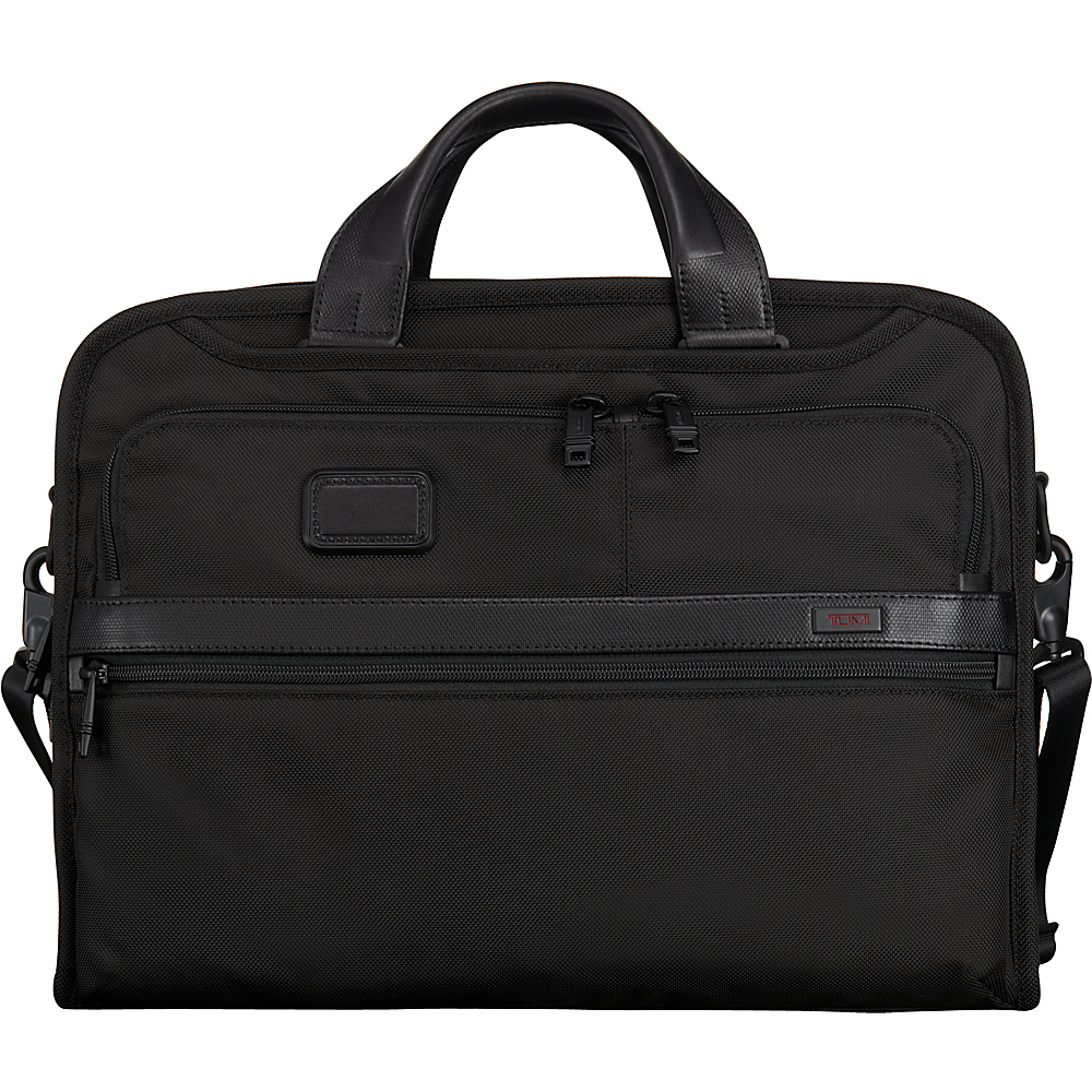 Tumi Alpha 2 Organizer Portfolio Brief Black - Tumi Non-Wheeled Business Cases - Work Bags & Briefcases, Non-Wheeled Business Cases