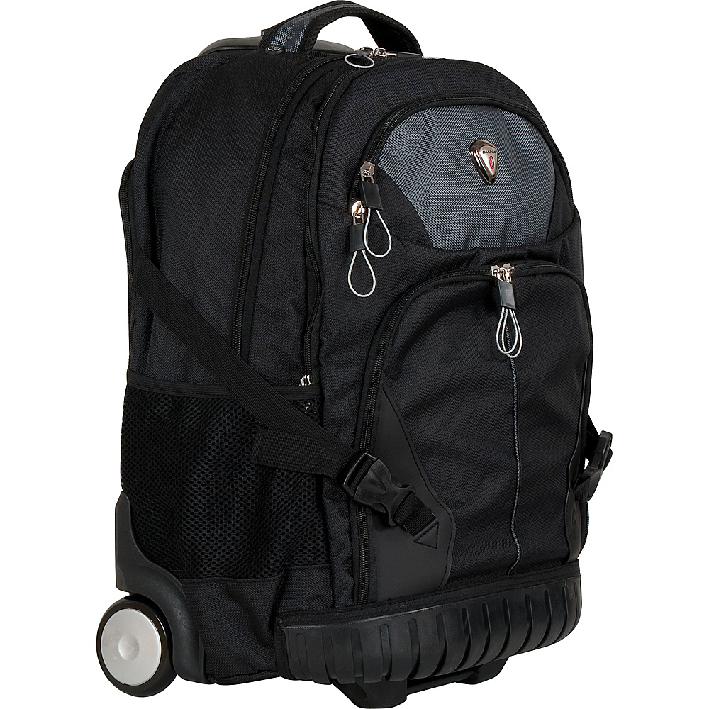 CalPak Cato Rolling Backpack Smoky Black CalPak Rolling Backpacks