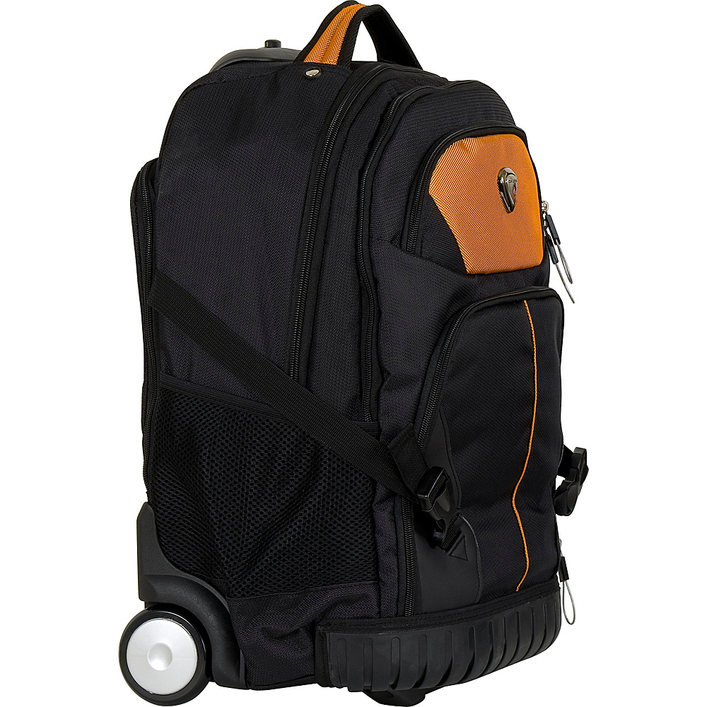 CalPak Cato Rolling Backpack Burnt Orange CalPak Rolling Backpacks