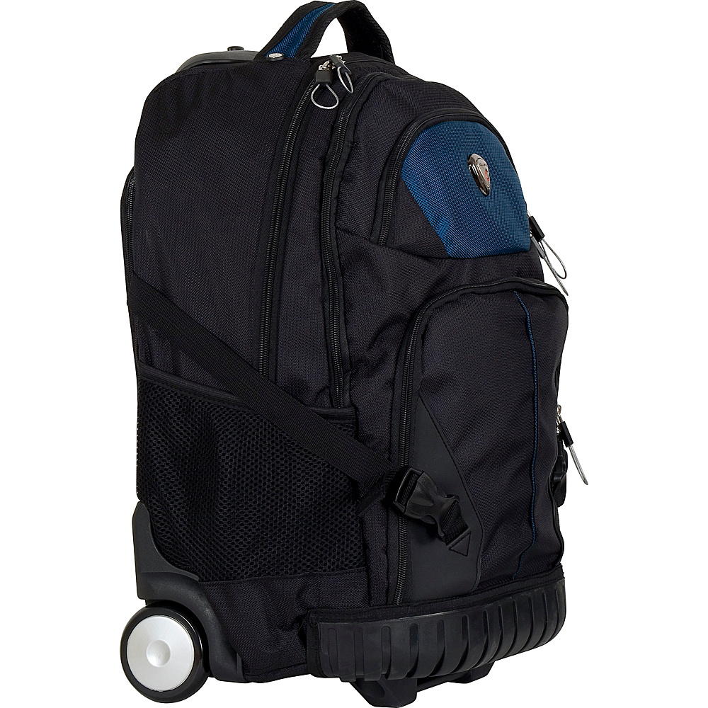 CalPak Cato Rolling Backpack Navy Blue CalPak Rolling Backpacks