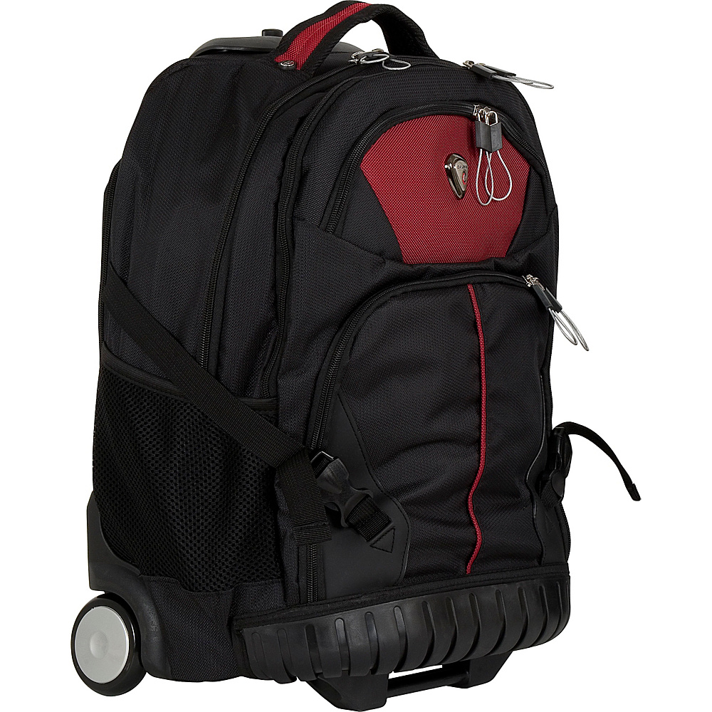 CalPak Cato Rolling Backpack Antique Ruby CalPak Rolling Backpacks
