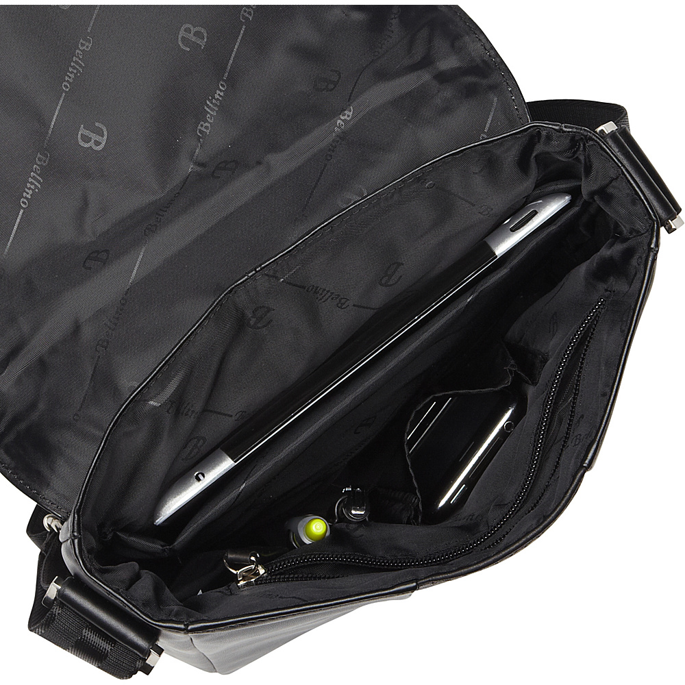 Bellino Tablet Sling Black - Bellino Messenger Bags
