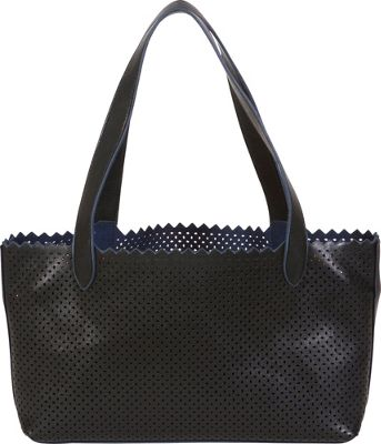BUCO Small Diamond Shoulder Bag Black/Navy - BUCO Manmade Handbags
