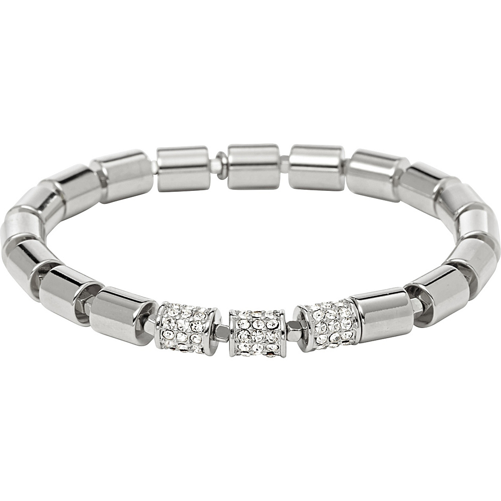 Fossil Barrel Stretch Bracelet Silver - Fossil Jewelry