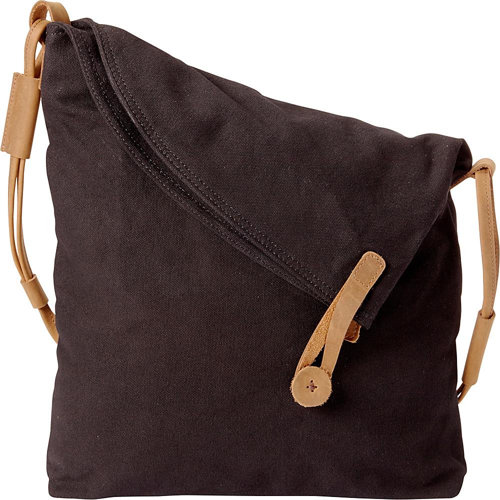 Vagabond Traveler Casual Style Cotton Canvas Cross Body Shoulder Bag Black - Vagabond Traveler Messenger Bags - Work Bags & Briefcases, Messenger Bags