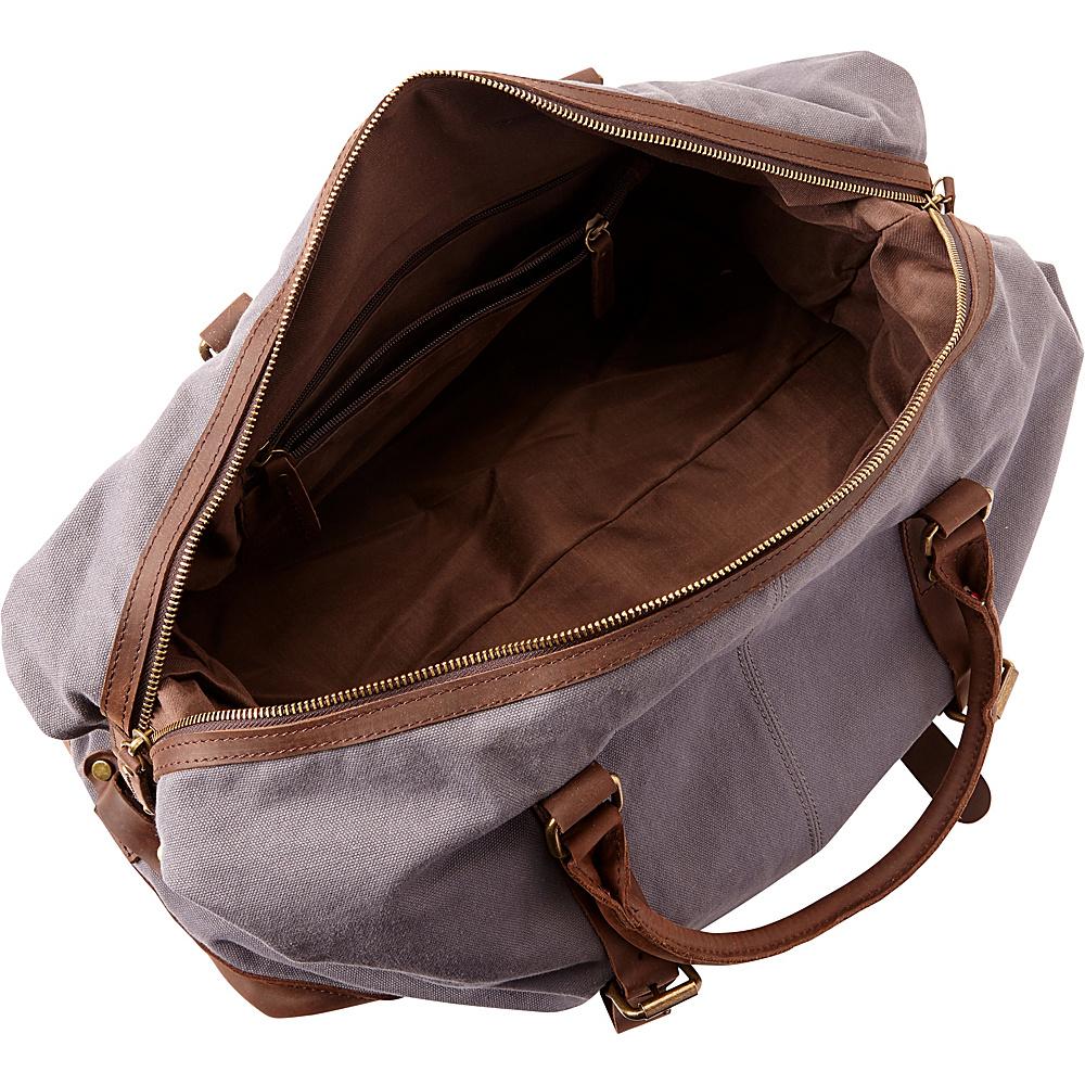 Vagabond Traveler Classic Antique Style Cotton Canvas Medium Duffle Bag Military Green - Vagabond Traveler Rolling Duffels