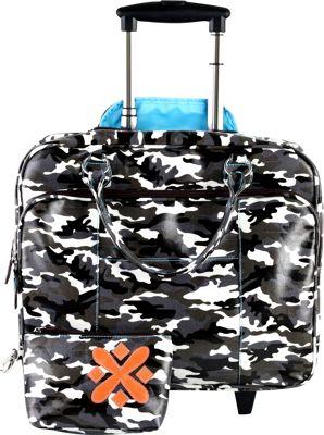 Urban Junket Kristen Wheeled Bag Grey Camouflage - Urban Junket Wheeled Business Cases