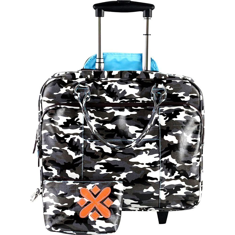 Urban Junket Kristen Wheeled Bag Grey Camouflage Urban Junket Wheeled Business Cases
