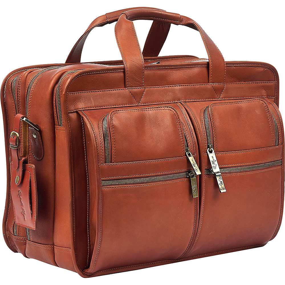 Robert Myers Classic Executive Briefcase XL Tan - Robert Myers Non-Wheeled Business Cases